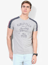 Pepe Jeans Grey Printed Round Neck T-Shirt