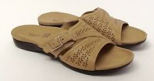 Orthaheel Path Camel Leather Slide Sandals w/ Arch Support Size 7