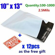 100-1000 10x13 Poly Mailers Shipping Envelopes Self Sealing Plastic Mailing Bags