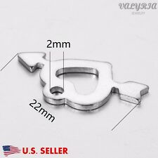 Wholesale Stainless Steel Arrow Heart Charm Pendant Jewelry Supplies 13x22mm