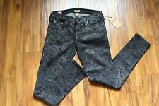 $358 TRUE RELIGION JEANS WOMENS Skinny Jeans Casey Black Super Skinny Size 28