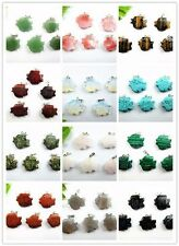 5PCS Wholesale mixed color mixed material carved fish pendant bead