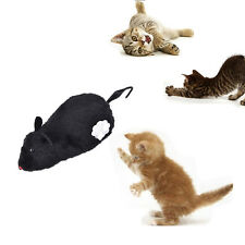 Wind Up Funny Running Mouse Move Tail Cat Kitten Prank Toy Joking Gag Gift WK