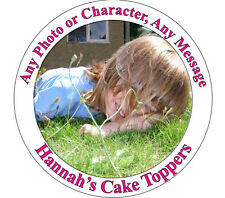 """Personalised Photo 7.5"""" Icing or Ricepaper Cake Topper"""