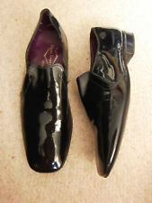 VINTAGE MENS  FAUX LEATHER PATENT MOD SHOES BY STEAD AND SIMPSON
