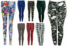 New Womens Ladies Printed Skinny Full Length Leggings Sexy Stretchy Trouser Pant
