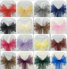 Organza Chair Cover Sash Bow Wedding Party Reception Banquet Decor 50/100PCS