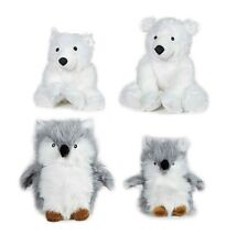Arctic Buddies Plush Dog Toys Owls OR Polar Bears With Squeakers - Choose Size