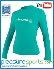 Women's ONeill Rashguard Basic Skins Long Sleeve Rash Guard 50+ UV Protection