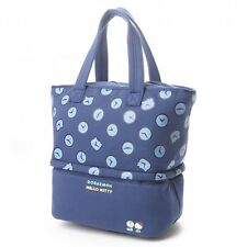 Hello Kitty x Doraemon Lunch Cooler Tote Bag Handbag Picnic Purse Japan T4984
