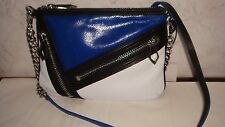 NWT-Botkier Cruz Leather CrossBody Chain Bag in Citron-Yellow or Cobalt-Blue NEW