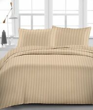 100% Organic Cotton One Qty Soft Duvet Cover Taupe Stripe 1000TC For AU