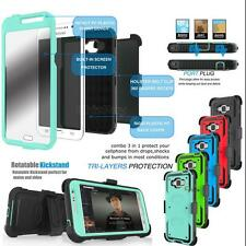 Hybrid Rugged Hard Case Cover Clip Holster For Samsung Galaxy Grand Prime G530