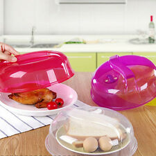 Microwave Plate Cover Food Dish Lid Ventilated Steam Vent Clear Kitchen Cooking