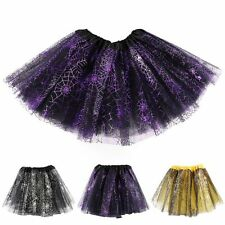 Kids Girls Layer Tutu Ballet Dance Dress Skirt Tulle Full Pettiskirt Costume