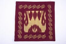 """Ikat and Suzani Embroidery Pillow Cover, """"Anor"""" (Pomegranate), Handmade"""