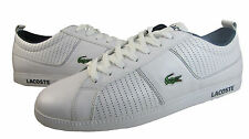 Lacoste Mens Observe P White Navy Croc Lace-Up Casual Kicks Shoes Sneakers