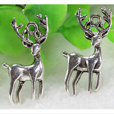 10/30PCS Retro Tibet Silver Lovely Deer Jewelry Findings Charms Pendants 27x15mm
