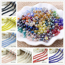 100PCS 3*4MM AB Multicolor Crystal Faceted Gems Loose Beads AA01