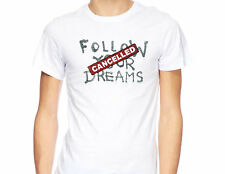 Banksy Follow Your Dreams Cancelled Graffiti Street Panda Slogan T-shirt P052