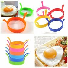 Hot Silicone Round Omelette Fry Egg Ring Pancake Poach Mold Kitchen Cooking Tool