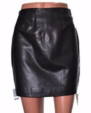 Leather skirt black a-line mini zip fully lined by Boutique UK size 8 12