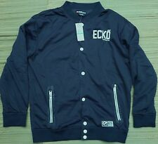 ECKO UNLTD. MENS LITE INDIGOBLUE COTTON LINED POLY TRACK SNAP-UP JACKET LIST $70