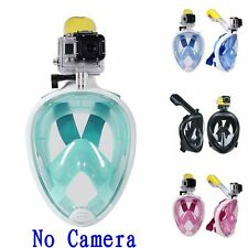 Swimming Full Face Mask Surface Diving Snorkel Scuba for Adult Kid GoPro Swimmer