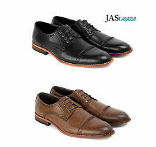 Mens Casual Smart Oxford Shoes Fashion Lace Up Formal Work Office Size 6-11 JAS