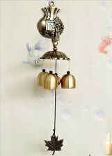 Wind Chime Garden Noisemaker Windchime With 3/6 Bells Chinese FU Home Decoration