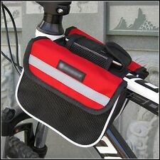 Cycling Bicycle Top Frame Pannier Front Tube Double Saddle Bag Mountain 3 Color