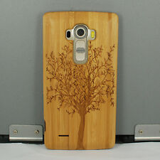 Genuine Tree Natural Bamboo Wood Wooden Hard Cover Case for LG G4 G3 G2