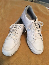 Mens Golf Shoes - Ashworth White Leather - Spikeless - Size 11M