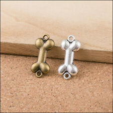 18PCS Vintage Bronze/Silver Bone Connector charms DIY Jewelry Findings 23x11mm