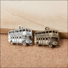 New 20PCS bus Charms Pendants Antique Silver/bronze DIY Jewelry Findings 19x25mm