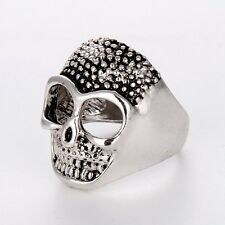 New Wholesale Stainless Steel Mens/Womens Silver skull Rings Fashion Jewelry Hot