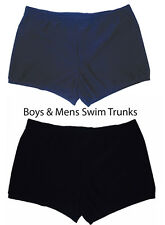 BOYS MENS SWIMWEAR SWIMMING SWIM SHORTS DRAWSTRING WAIST SCHOOL P.E SHORTS