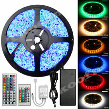 5M SMD 3528/5050 Waterproof 300 Flash LED Strip Flexible Lighting DC 12V Remote