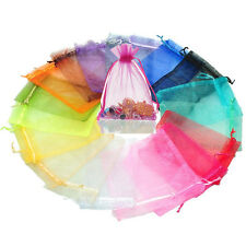 Wholesale Organza Jewelry Packing Pouch Wedding Favor Supplies Gift Bags 7*9cm