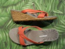 PATAGONIA SOLIMAR WEDGE SLIDE Coral Leather Sandals Womens NEW Box
