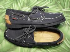 SEBAGO SPINNAKER Navy Blue Canvas Docksides Boat Shoes Womens 8.5M  NEW Box