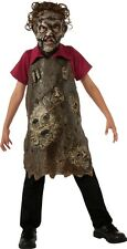 Texas Chainsaw Massacre Leatherface Child Apron, Brown, TCM, Rubies