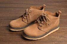New Mens desert hiking casual worker ankle Boots genuine leather Military Shoes