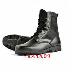 Men Leather Tactical Steel Toe Combat Security Police Hunting Boots Shoes Gift