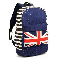 Large UK British Flag Union Unisex Backpack Shoulder School Bag BackPack Canvas