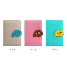 Mini Business Ruled PU Leather Candy Notebook Diary Planner Journal Memo #Y5
