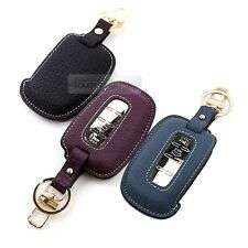 4Button Stitched Smart Key Leather Case Cover Holder Pouch BF-2 for HYUNDAI Car