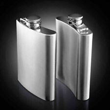 7 8 10oz Stainless Steel Whiskey Hip Liquor Pocket Wine Bottle Flask Cap Sliver