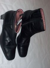 """CLARKS  WOMENS BLACK LEATHER 2.3"""" HEEL ANKLE BOOT SIZE UK 5 USED ONCE VGC"""