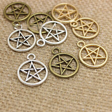 50PCS Star Charms Antique Silver/Bronze Charm Pendant DIY Jewelry Making 25x20mm